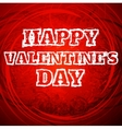 Valentines day draw text vector image