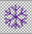 violet purple transparent snowflake silhouette vector image vector image
