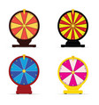 wheel of fortune gambling set vector image
