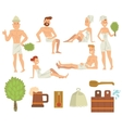 Young couple relaxing in spa health care concept vector image vector image