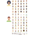 flat faces icon set vector image