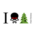 I hate New Year The symbol of anger and fear - vector image