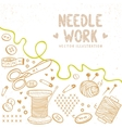 Needle work vector image