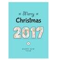 Christmas poster 2017 vector image