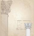 classic columns background roman corinthian vector image