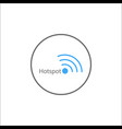 hotspot solid icon mobile sign and wifi zone vector image