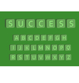 3D alphabet with word success vector image vector image
