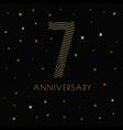 7 anniversary emblem celebration label dark color