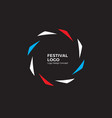abstract circular dynamic logo round shape icon vector image