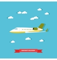 aircraft delivery concept vector image vector image