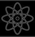 atom the white path icon vector image vector image