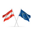 austria and european union waving flags vector image vector image