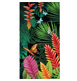 background with tropical jungle plants vector image vector image