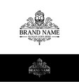 beard logo design template vector image