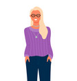 business woman portrait isolated blonde lady vector image vector image