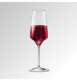 champagne or wine glass vector image vector image