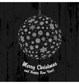 christmas ball on wooden texture vector image vector image