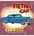 Classic retro car vector image vector image