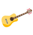 classical acoustic guitar vector image vector image