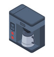coffee machine icon isometric style vector image