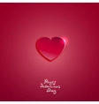 Creative pink paper heart for Valentines day card vector image