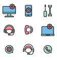 customer services and maintenance icons vector image