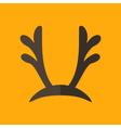 Deer Antlers Christmas Flat Icon vector image
