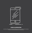 device mobile phone smartphone telephone icon vector image vector image