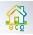 Eco House in rainbow color EPS 10 vector image