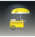 Fast food cart street shop vector image vector image