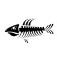 fish bone skeleton symbol sea fishes icons vector image