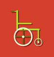 flat icon design collection medical wheelchair in vector image vector image