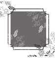 frame with flowers isolated icon vector image
