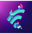 free wifi hotspot isometric concept vector image