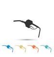 gasoline pump nozzle fuel pump petrol station vector image vector image