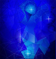 geometric blue shape background vector image