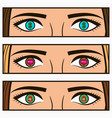girl eyes vector image vector image
