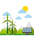 Green idea and ecology design vector image