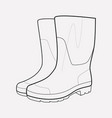 gumboots icon line element of vector image vector image
