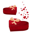 heart gift box icon flat of heart vector image vector image