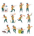 hunters sniper outdoor human with weapons duck vector image vector image