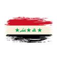 iraqi flag brush grunge background vector image vector image