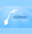 logo of norway vector image vector image