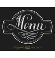 Menu Chalk lettering vector image