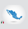 mexico map design with 3d style blue mexico map vector image