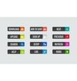 Modern flat design website navigation buttons vector image vector image