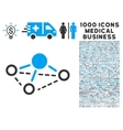 Molecule Icon with 1000 Medical Business Symbols vector image vector image