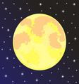 moon in night sky with stars vector image