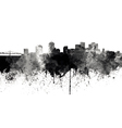 New Orleans skyline in black watercolor on white vector image vector image