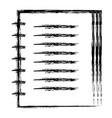 note book school icon vector image